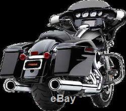 Cobra Chrome Loud Neighbor Hater 4 1/2 Mufflers 95-16 Harley Touring