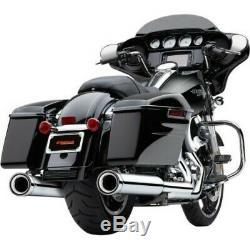 Cobra Chrome Neighbor Hater NH Series 4.5 Slip On Mufflers Mufflers Harley FLH