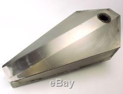 Coffin Gas Tank Raw Steel 3 4 Gallon Wyatt Gattling Harley