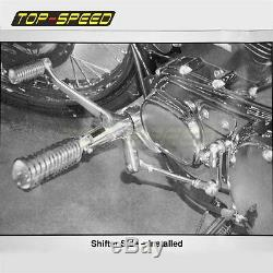 Complete Forward Controls Control Rail Foot Peg Kit Footpeg For Harley Sportster