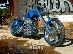 Custom Motorcycle Gas Tank chopper Harley Martin Brothers Style pop up cap