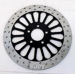 Dna Black Front Super Spoke 11.5 Brake Disc Rotor Harley