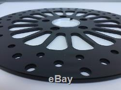 Dna Black Stainless 11.8 Dual Front Super Spoke Brake Disc Rotor Set Harley