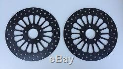 Dna Black Stainless 2006-2017 Dyna Front & Rear Brake Disc Rotor Set Harley