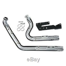 Dual Pipes Muffler Exhaust For Harley Davidson Sportster XL 1200 883 2004-2013