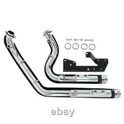 Dual Pipes Muffler Exhaust For Harley Sportster Iron 883 1200 XL 2004-2013 TCMT