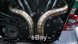 EXHAUST PIPES Stainless Steel TIG Harley Sportster 883/1200 RIBBED