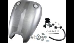 Extended Rubber Mount Smooth Gas Fuel Tank 2 Caps Harley Sportster 1200 1988-03