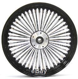 Fat Spoke 16 Rear Wheel Black 16 X 3.5 Harley Street Glide Flhx Bagger 06-07