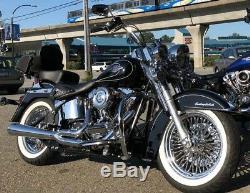 Fat Spoke Wheel 16x3.5 Front Rear Set For Harley Touring Bagger Models 1984-2008