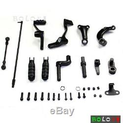 Foot Pegs Forward Control Kit Footpegs Levers Linkage For Harley Sportster 883
