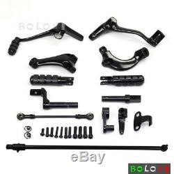 Forward Control Levers Foot Pegs Footpegs For Harley Sportster XL 883 1200 14-17
