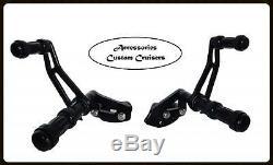 Forward Controls Footpegs Pegs 2004 2013 Harley Sportster 883 1200 Black