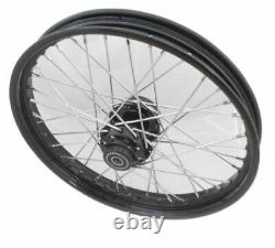 Front 21 x 2.15 40 Spoke Black Rim Hub Wheel Harley Wide Glide Softail Dyna 41mm