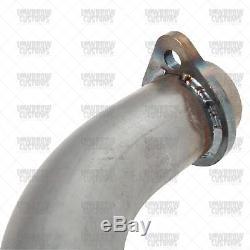 Gasbox Exhaust Pipe Set 1970-84 Harley Cone Shovelhead Bare Steel 65435-70 USA