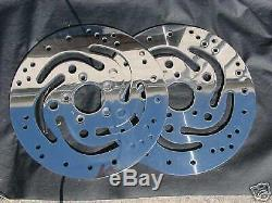 Genuine Harley Polish Dual Front Touring Rotors 00-07 Road King FLHR Outright