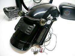 Genuine OEM 09-20 Harley Touring Street Glide Rear Fender with Lights Vivid Black