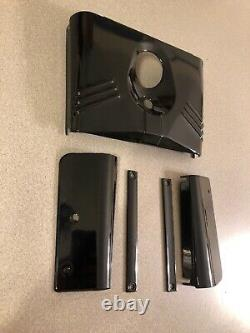 Gloss Black Fork Tins Set Front Side for Harley Fatboy Heritage Softail 5 PIECE