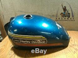 Harley Aermacchi 1974 Sprint SS350 Gas Tank Original Paint and decals