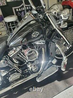 Harley CVO custom tank emblems 3.2, stainless steel with black edges