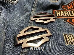 Harley CVO custom tank emblems 4.3, stainless steel with black edges