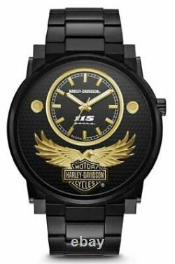 Harley-Davidson 115th Anniversary Ltd Edition Black Mens Watch 78A119