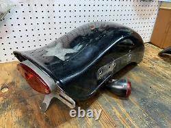 Harley-Davidson Dyna Fxr Sportster Front Bobbed Rear Fender Taillight Oem Used