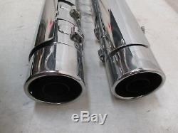 Harley Davidson Exhaust Mufflers Touring Chrome Screamin Eagle 64900256 64900257