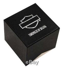 Harley-Davidson Men's B&S Dimensional Stainless Steel Watch, Black 78B151