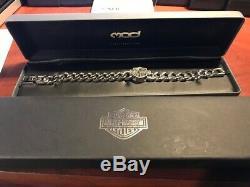 Harley-Davidson Men's Bar & Shield Stainless Steel Chain Bracelet HSB0015