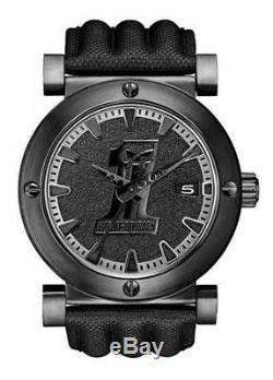 Harley-Davidson Men's Bulova Black #1 Racing Skull Wrist Watch 78B131