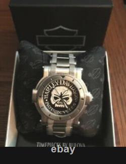Harley-Davidson Men's Bulova Willie G Skull Wrist Watch 76A11
