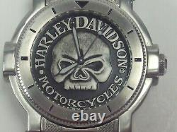 Harley-Davidson Men's Bulova Wrist Watch with Skull Japan Movement # 76A11