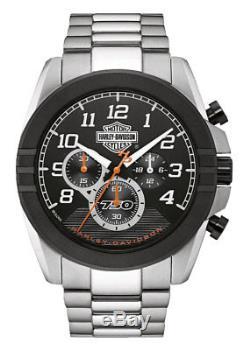 Harley-Davidson Men's Six-Hand Chronograph Watch, Two-Tone Steel Case 76B175