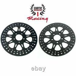 Harley Front Brake Disc Rotors Touring Road King Street Electra Glide 2008-2013