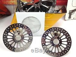 Harley Front Polished Brake Rotors Right & Left Touring, Softail, Dyna Dual Disk