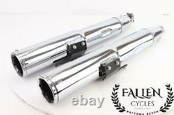 Harley Glide King VANCE & HINES HIGH OUTPUT SLIP ON Exhaust Muffler Pipes Set
