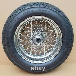 Harley HPU Custom 80 Speichen V2A Rad hinten 15 X 6 rear Wheel stainless steel