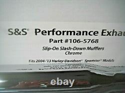 Harley Mufflers Chrome Sportster 04-13 S&S Cycle Performance Slip-On 106-5768