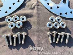 Harley Polished Front Brake 11.8 Enforcer Impeller Rotors 14-21 Touring with Bolts