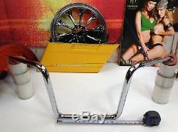 Harley Road Glide King LA Choppers 14 Ape Hanger 1 1/4 Chubby Handlebars