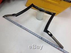 Harley Softail Dyna Sportster 1.25Chubby Black 12 Outlawz Ape Hanger Handlebar