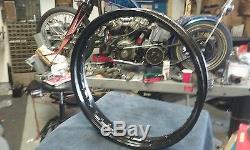 Harley VL Flathead Knucklehead Panhead Vintage Bobber 18x2.15 Steel Rim Black