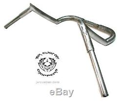 JSR CUSTOM 14 x 1 1/4 HARLEY STREET GLIDE APE HANGERS RAW STEEL