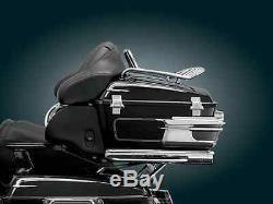 Kuryakyn 8973 Sliver Quick Adjust Tour Pack Relocator 00-13 Harley Touring FLHT