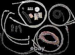 La Choppers ABS Braided 15-17 Ape Hanger Handlebar Cable Kit 08-13 Harley FLHX