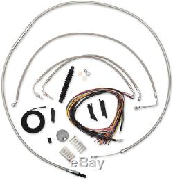 La Choppers Braided 12-14 Ape Hanger Non ABS Cable Kit 08-13 Harley Touring