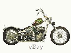Large Axed Peanut Gas Tank 4g Low Tunnel Harley Triumph Xs650 Bobber Chopper