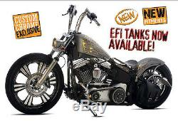 Lucky Sucker Round Top 7-1/4fender &cr Struts Harley Tc Softail 2000-12 Bobber