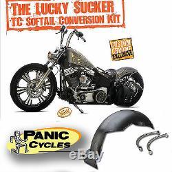 Lucky Sucker Round Top 7-1/4fender &raw Struts Harley Tc Softail 2000-12 Bobber